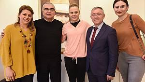 Çorlulu Survivor Yarışmacısından Başkan Baysan'a Ziyaret