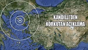 Kandilli 'den 7.2 Şiddetinde Deprem Uyarısı
