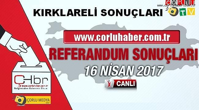 Kırklareli Referandum Sonuçları