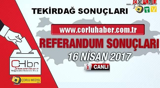 Tekirdağ Referandum Sonuçları