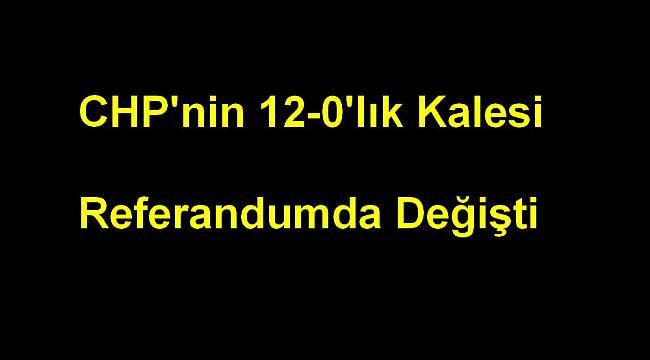 CHP'nin 12-0'lık Kalesi Referandumda Değişti