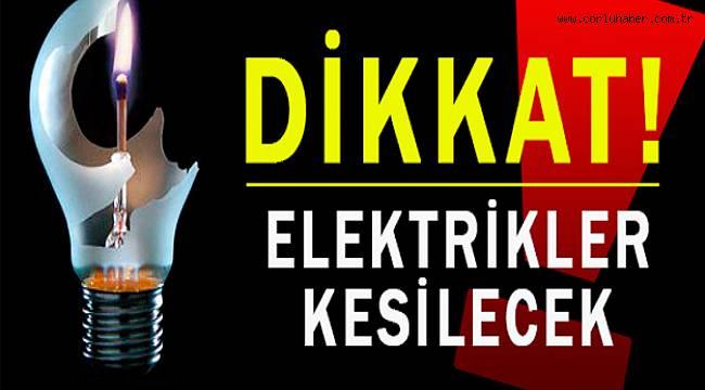 Çorlu'da Elektrik Kesintisi