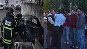 Madde Bağımsı Genç Arabayı Ateşe Verdi