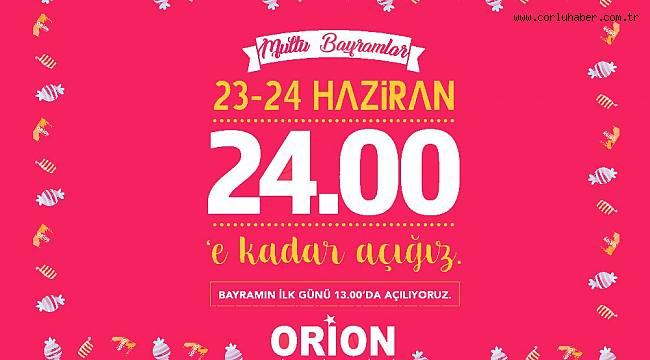 Orion Gece Yarısına Kadar Açık