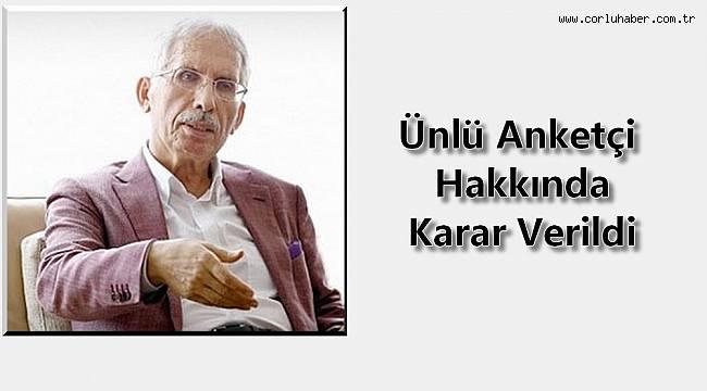 FETÖ'den gözaltına alınan Metropoll Araştırma'nın sahibi Özer Sancar hakkında karar