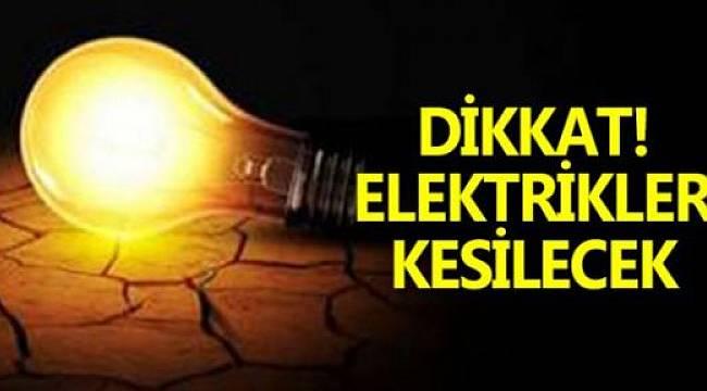Ergene Ve Çorlu'da 9 Saat Elektrik Yok