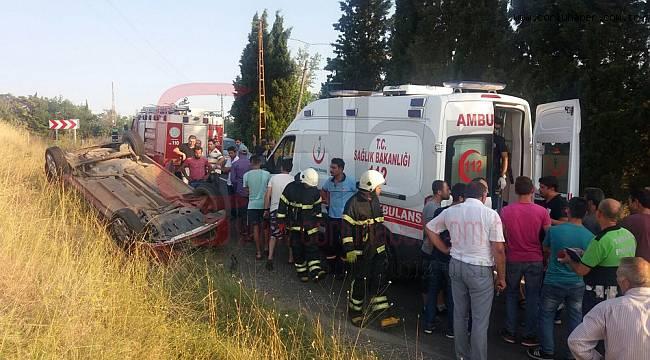 Otomobil Takla Attı, 5 Yaralı