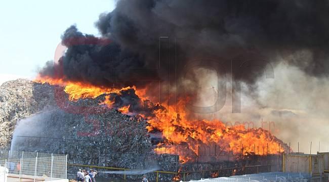 Ergene'de Kağıt Fabrikasında Yangın