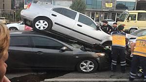 7 Araç Birbirine Girdi, 7 Yaralı