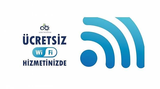 Çorlu Belediyesi Ücretsiz Wi-Fi Noktaları Artıyor
