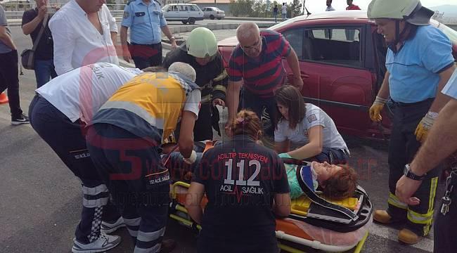 Malkara'da Trafik Kazası 5 Yaralı