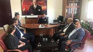 Başkan Özgül'den Saray İlçe Emniyet Müdürü'ne Ziyaret