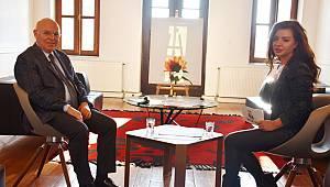 Başkan Eşkinat Halk TV'de Yerel Gündem programının konuğu oldu