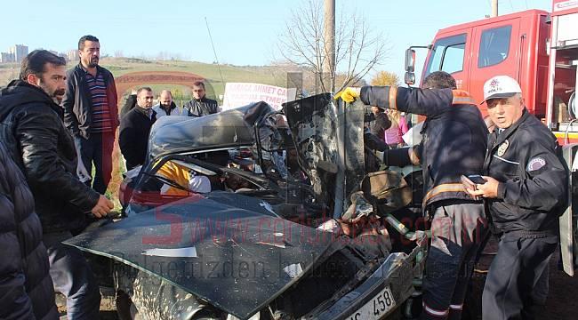 Çorlu'da Feci Kaza, 1 Ağır Yaralı