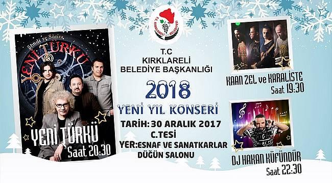 Kırklareli Belediyesi'nden Yeni Yıla Özel Konser Coşkusu