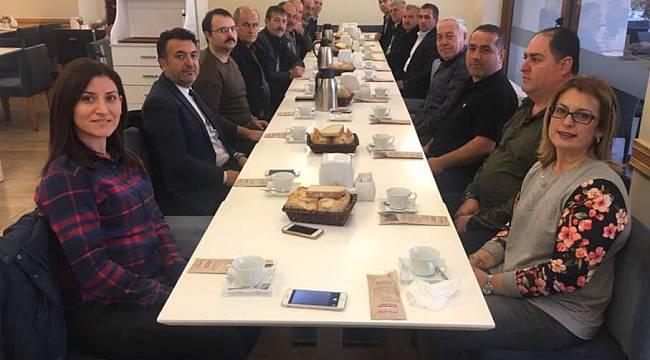 Ulaşım Daire Başkanı Kooperatif Başkanlarıyla Kahvaltıda Buluştu