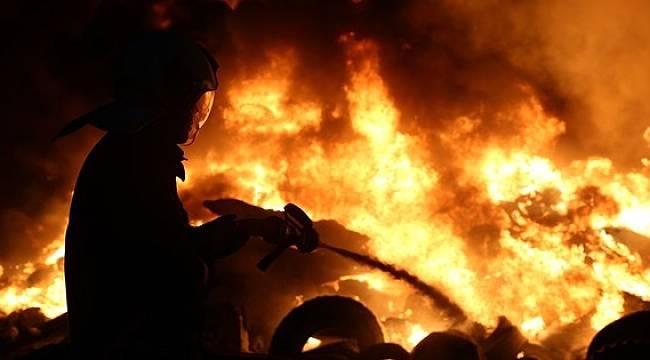 Evde Çıkan Yangında Feci Şekilde Can Verdi