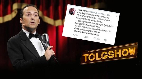 Tolgshow'un Yönetmeni Fırat Parlak'dan Çorlululara 'Kusura Bakmayın'