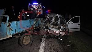 Feci Kaza, 1 Ölü 3 Yaralı