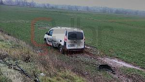 Yoldan Çıkan Araç Tarlaya Uçtu, 1 Yaralı