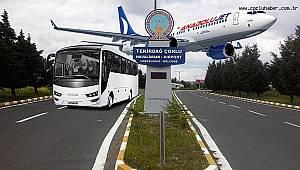 Çorlu Havalimanı'nda Yolcu Sayısı Yüzde 60 Arttı