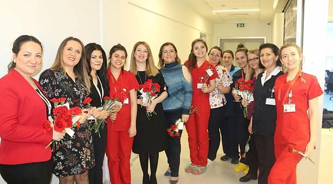Özel Çorlu Vatan Hastanesi Bayan Çalışanlarını Unutmadı