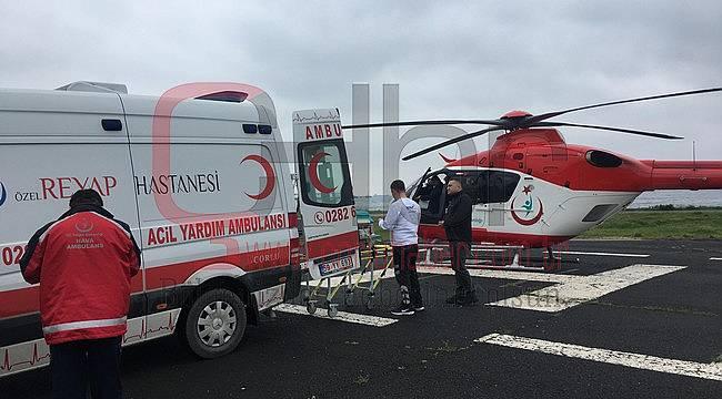 Yeni Doğan Bebek Helikopterle Tekirdağ'a Sevk Edildi