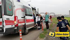 Yoldan Çıkan Otomobil Tarlaya Uçtu, 1 Yaralı