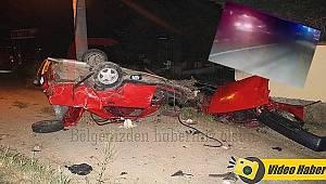 1'i Ağır 11 Kişinin Yaralandığı Kaza Güvenlik Kamerasında