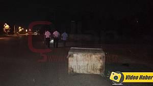 Alkollü Sürücü Çöp Konteynerine Çarptı