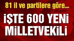 Türkiye 600 Vekilini Seçti