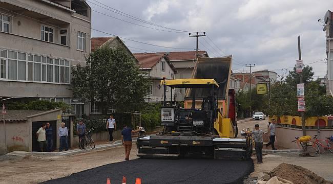 Ergene'de Oğuzhan Caddesi Asfaltlandı