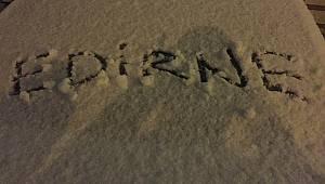 Beklenen Kar Trakya'ya Giriş Yaptı