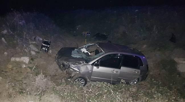 Kaçak Göçmenleri Taşıyan Otomobil Şarampole Uçtu, 1 Ölü 5 Yaralı