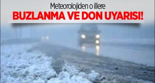 Meteorolojiden Sürücülere Önemli Uyarı