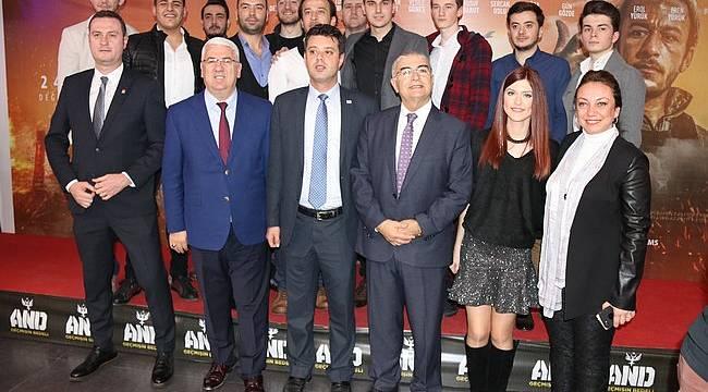 """Başkan Yüksel """"AND, Geçmişin Bedeli"""" Adlı Sinema Filminin Galasına Katıldı"""