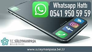 Süleymanpaşa Belediyesi WhatsApp Hattı Hizmete Girdi