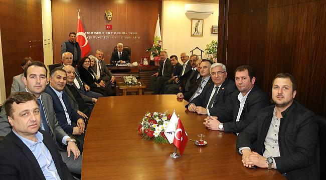 CHP İl Başkanı ve İl Yöneticilerinden Başkan Yüksel'e Ziyaret