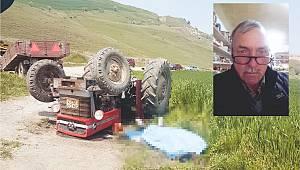 Freni Boşalan Traktör Devrildi, 1 Ölü