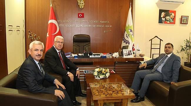 Kaymakam Kızıltoprak Başkan Yüksel'i Ziyaret Etti