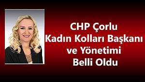 Çorlu CHP'de Kadın Kolları Başkanı Erözkan Oldu