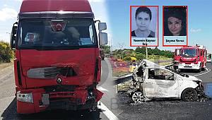 TEM'de Feci Kaza, 5 Kişi Yanarak Öldü