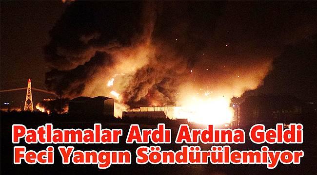 Kimyasal Atık Bertaraf Tesisinde Korkutan Yangın