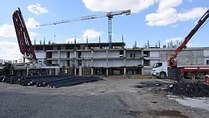 Başkan Albayrak Yeni Hizmet Binası İnşaatında İncelemelerde Bulundu