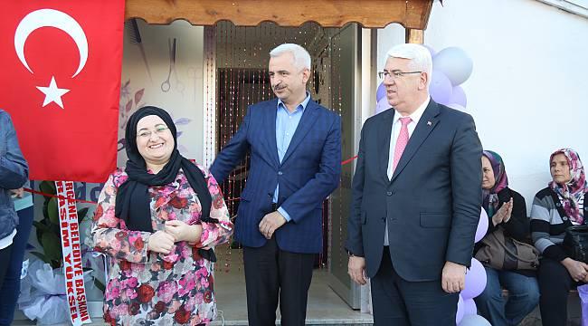 Ergene'de Bir Belediye Kursiyeri Daha Kendi İş Yerini Açtı