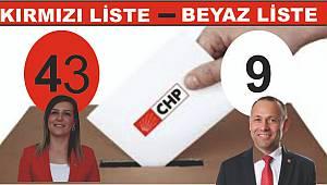 Kırmızı Liste 43 Beyaz Liste 9