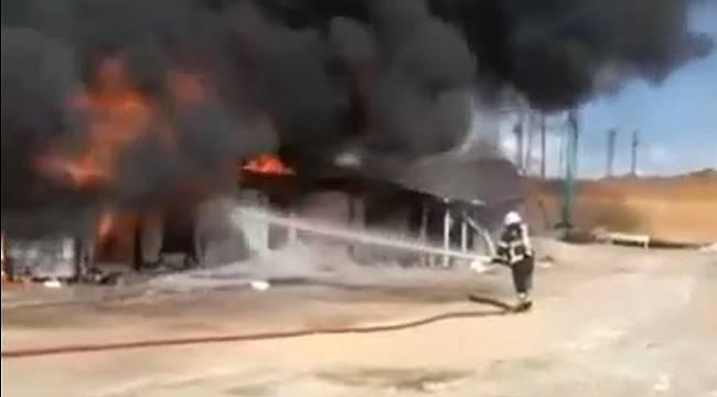 Otogarda Çıkan Yangın Korkuttu