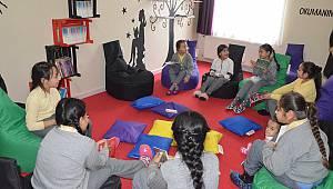 Hacıilbey İlkokulunda Kütüphane Açıldı