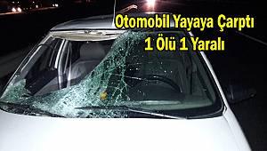Otomobil Yayaya Çarptı, 1 Ölü 1 Yaralı