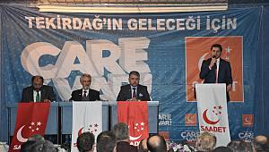 Saadet Partisi Genel Başkan Yardımcısı Aydın Çorlu'da